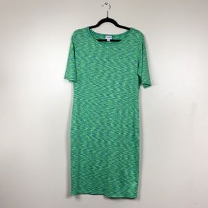 LuLaRoe Green and Blue Julia Dress